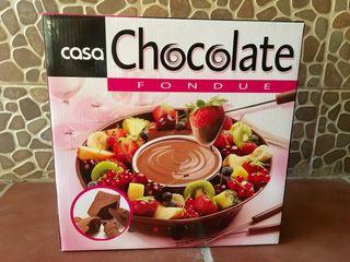 Fondue chocolate quesos Casa
