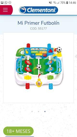 Mi primer futbolín Clementoni