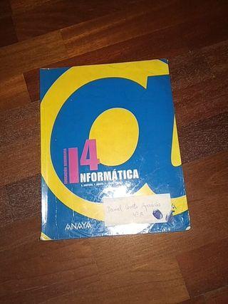 Libro Informática 4ESO, Editorial Anaya.