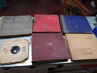 lote de 55 discos antiguos pizarra gramofono