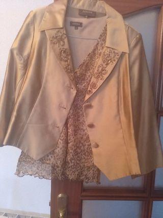 conjunto para boda chaqueta y blusa Zendra