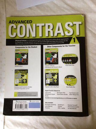 Advanced contrast for batxillerat 1 student's book