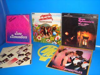 Vinilos -lote 5 discos-TANGOS -SABROSON-MERENGUE