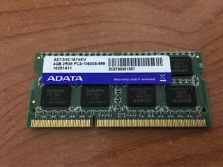 Memoria RAM Adata 4GB 2Rx8 DDR3 1333 MHz