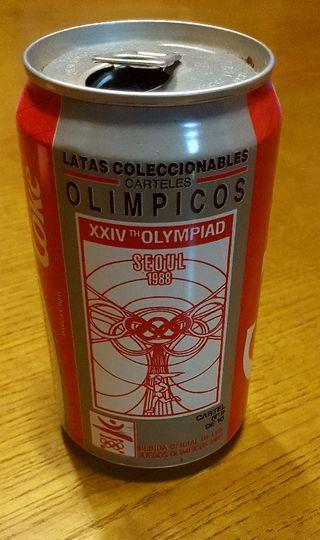 Lata de Coca Cola para coleccionistas.