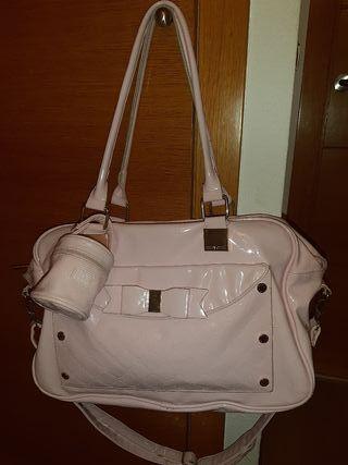 bolsa mayoral; rosa bebe