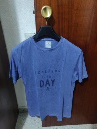 Camiseta azul manga corta Scalpers S