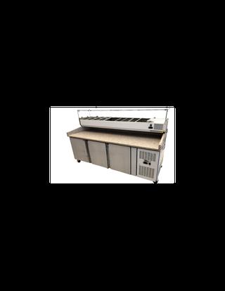 Mesa refrigerada+ vitrina ingredientes 2025*700*1