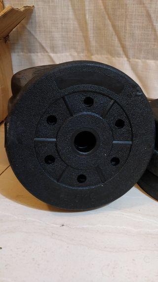 Discos de pesas (8 x 2.5 KG)