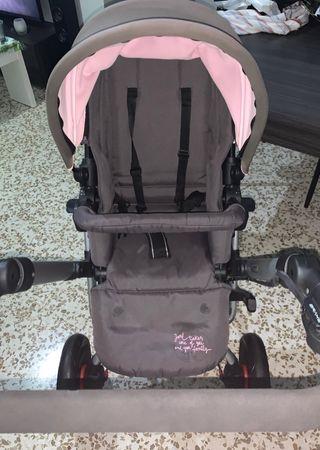 Carrito Bebé Jané Rider Gris y Rosa