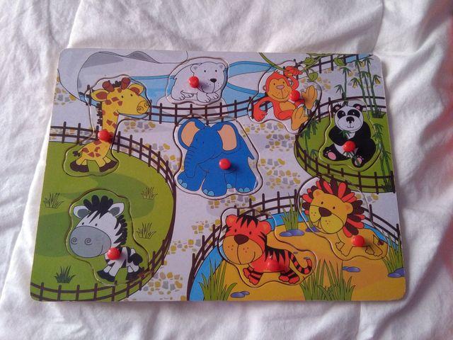 Juegos - puzzles infantiles de madera