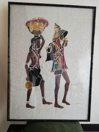 Pintura sobre tela enmarcada. Chad
