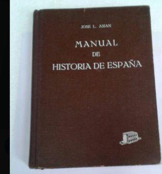 Libro Manual de Historia de España. Jose L. Asian
