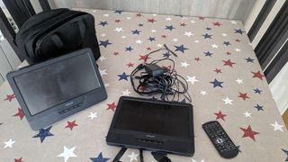 Reproductor de DVD portàtil amb 2 pantalles