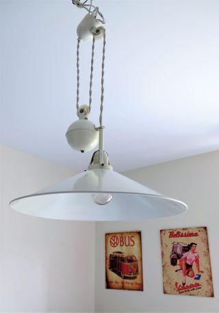 Lámpara techo Metalarte contrapeso blanca