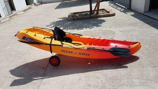 Pala kayak desmontable