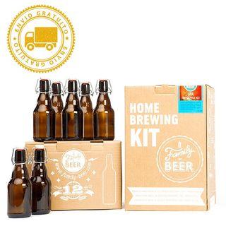 Kit cerveza artesanal + botellas vidrio