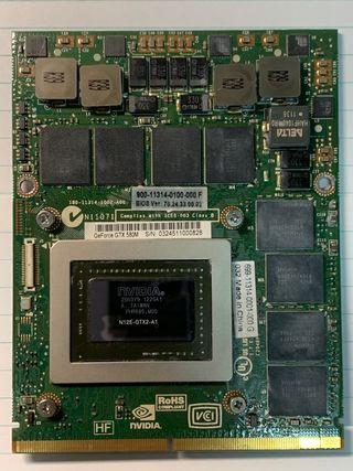 Gráfica NVIDIA GTX 580m 2Gb MXM Dell Alienware