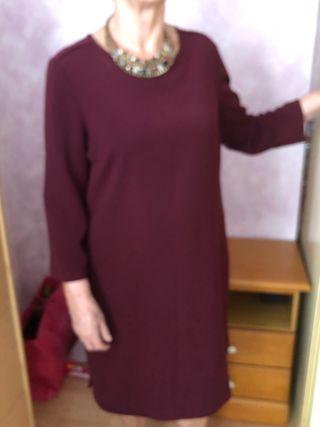 Vestido señora manga semi