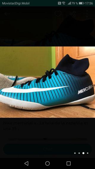 Nike mercurial, talla 39,5.