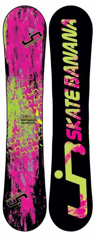 Tabla de Snowboard LIBTECH SKATE BANANA Verde/Rosa
