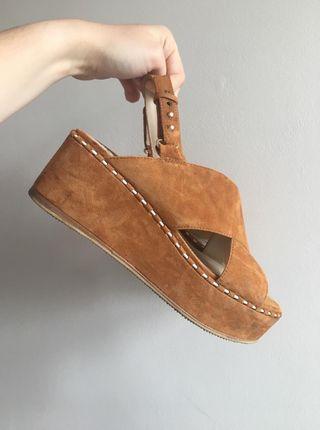 Massimo Dutti leather sandals