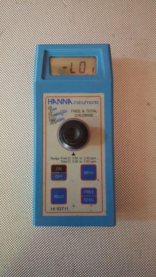 Analizador/medidor cloro libre y cloro total