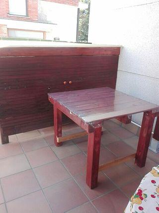 mesa exterior de palets
