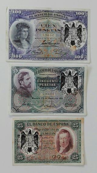 3 billetes de 1931