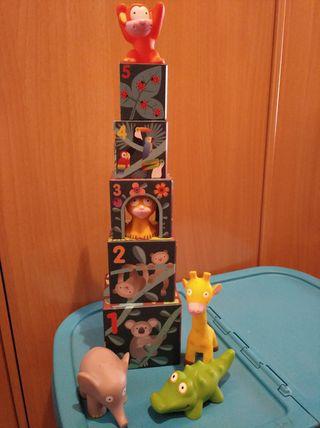 Puzzle cubos apilables