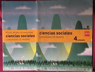 Libro y atlas ciencias sociales 4º Primaria Ed.SM