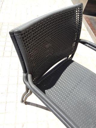 Dos sillas de terraza Ikea en excelente estado
