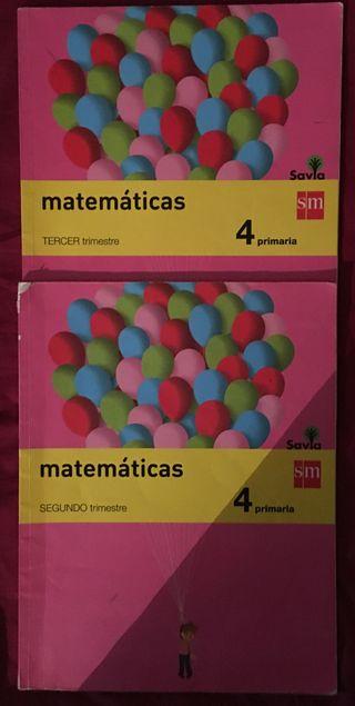 libros de matemáticas 4º de primaria editorial SM
