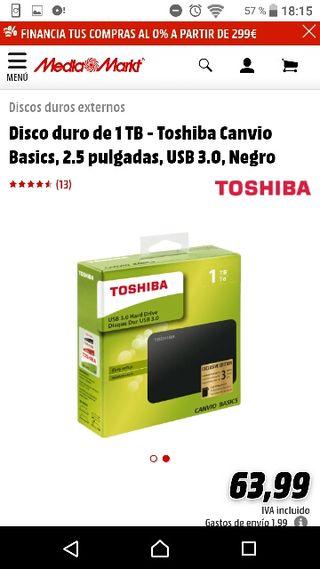 Disco Duro Toshiba Camvio Basics 1TB
