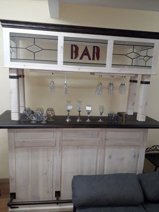Barra bar,Madera Vietnam, mueble bar