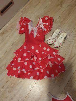 traje flamenco talla 2/3