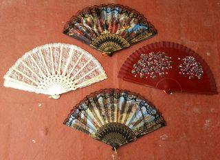 Abanicos feria fiesta verano calor ventilador