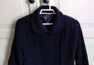 Abrigo niña azul marino talla 6