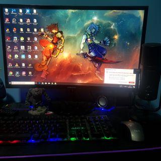 ordenador gamer + monitor curvo 24 pulgadas + extr