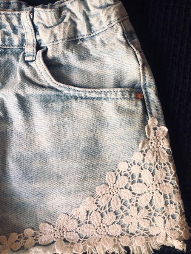 Denim shorts for little girls