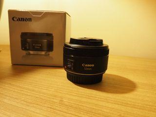 Objetivo Canon EF 50mm 1.8 STM con garantía