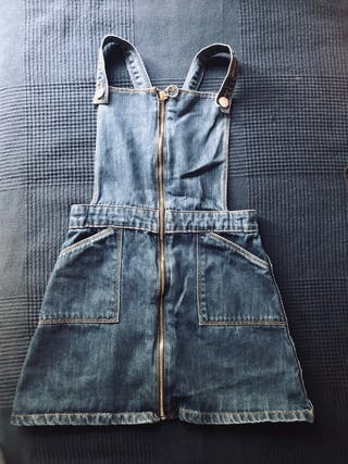 Denim bib overalls for children