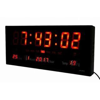 Reloj de pared digital LED Cuarzo Fecha temperatur