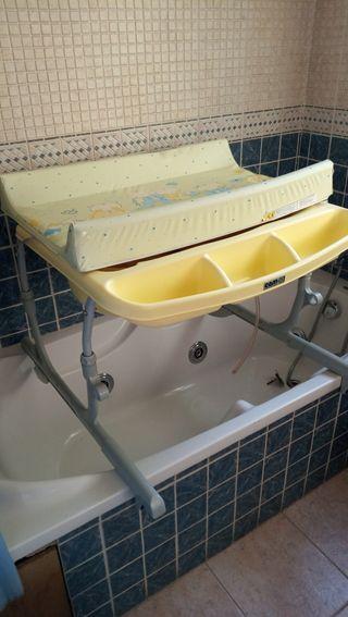 Bañera con cambiador Idro baby