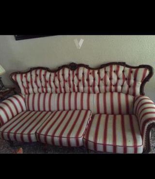 Conjunto sofá 3 plazas más orejero