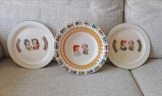 Tres platos antiguos OVIEDO