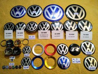 Tapa bujes Volkswagen Tapabujes VW Logos VW llanta