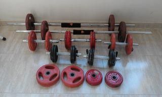 pesas de entrenamiento