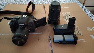 Cámara Canon 750D + objetivo + bolsa