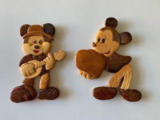 Figuras de Mickey Mouse madera